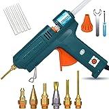 Full Size Hot Glue Gun, 150 Watts with 6 Copper Nozzles Temperature Adjustable Craft Repair Tool Professional Melting Glue Gu