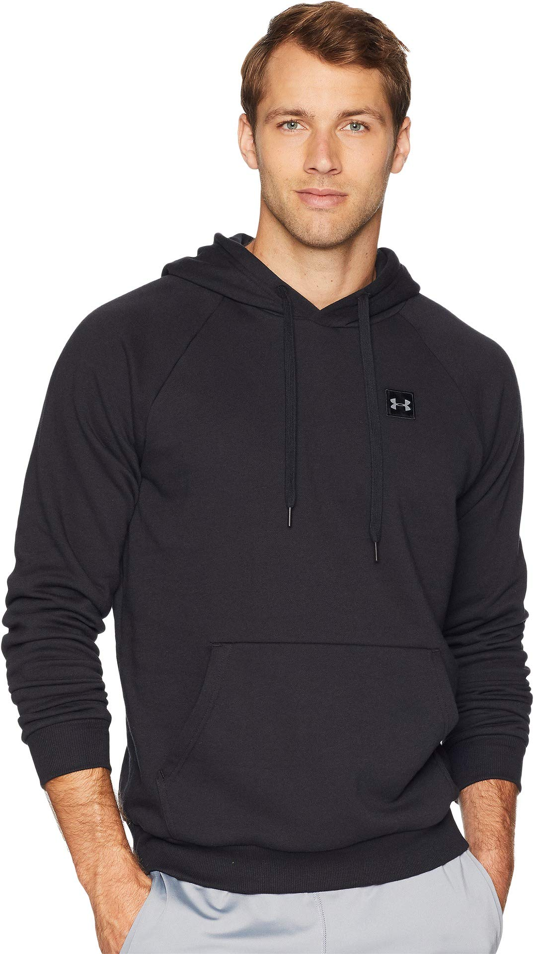 Under Armour Men's Rival Fleece Hoodie, Black (001)/Black, 3X-Large by Under Armour