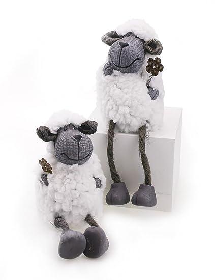 2 x figura de bordes taburete Cordero Ovejas oveja en Juego 11,5/19