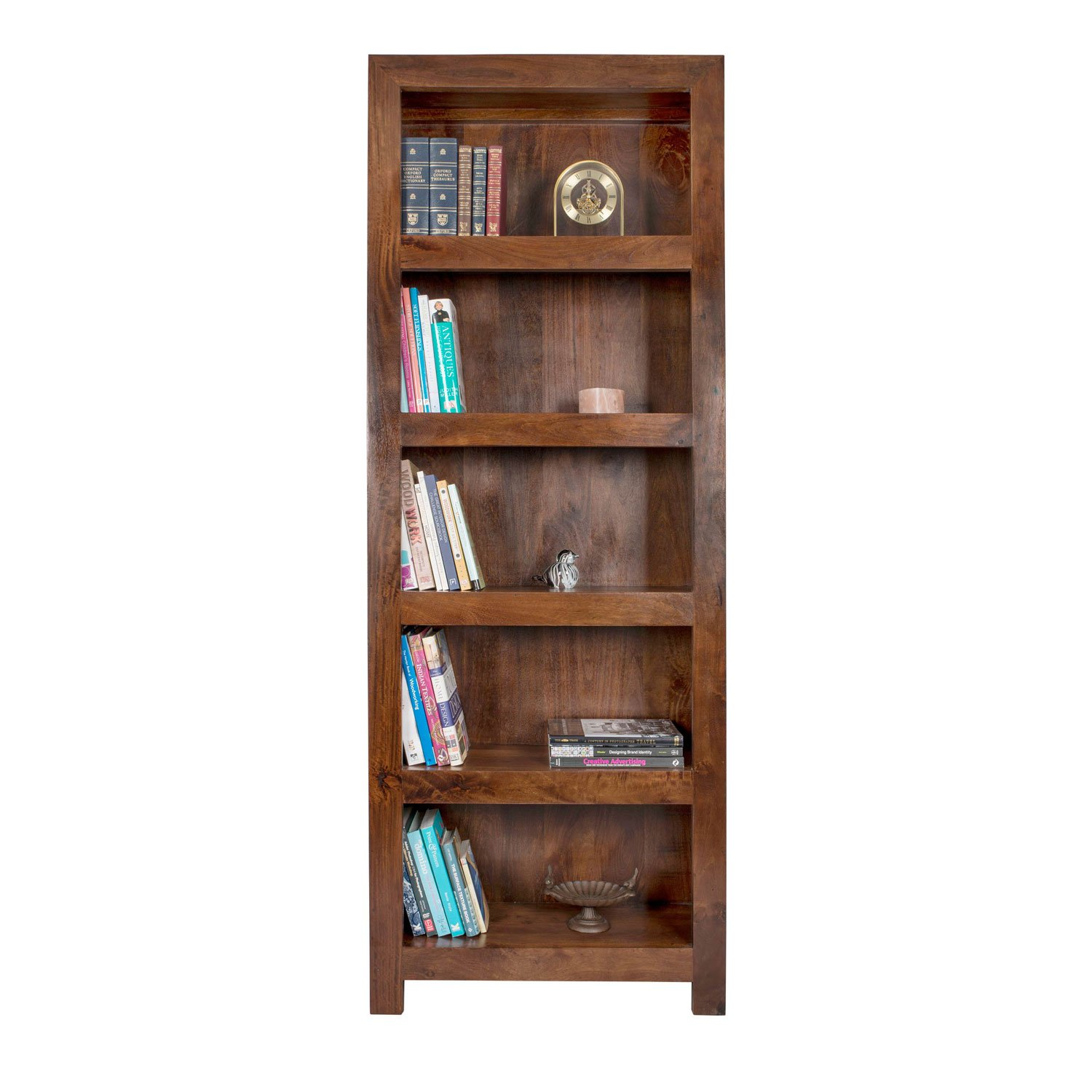 Homescapes - Dakota - Tall Bookcase 204 H x 76 W x 30 D cm - Dark - 100%  Solid Mango Hard Wood - ( No Veneer ) Hand Crafted Furniture: Amazon.co.uk:  Kitchen ... - Homescapes - Dakota - Tall Bookcase 204 H X 76 W X 30 D Cm - Dark