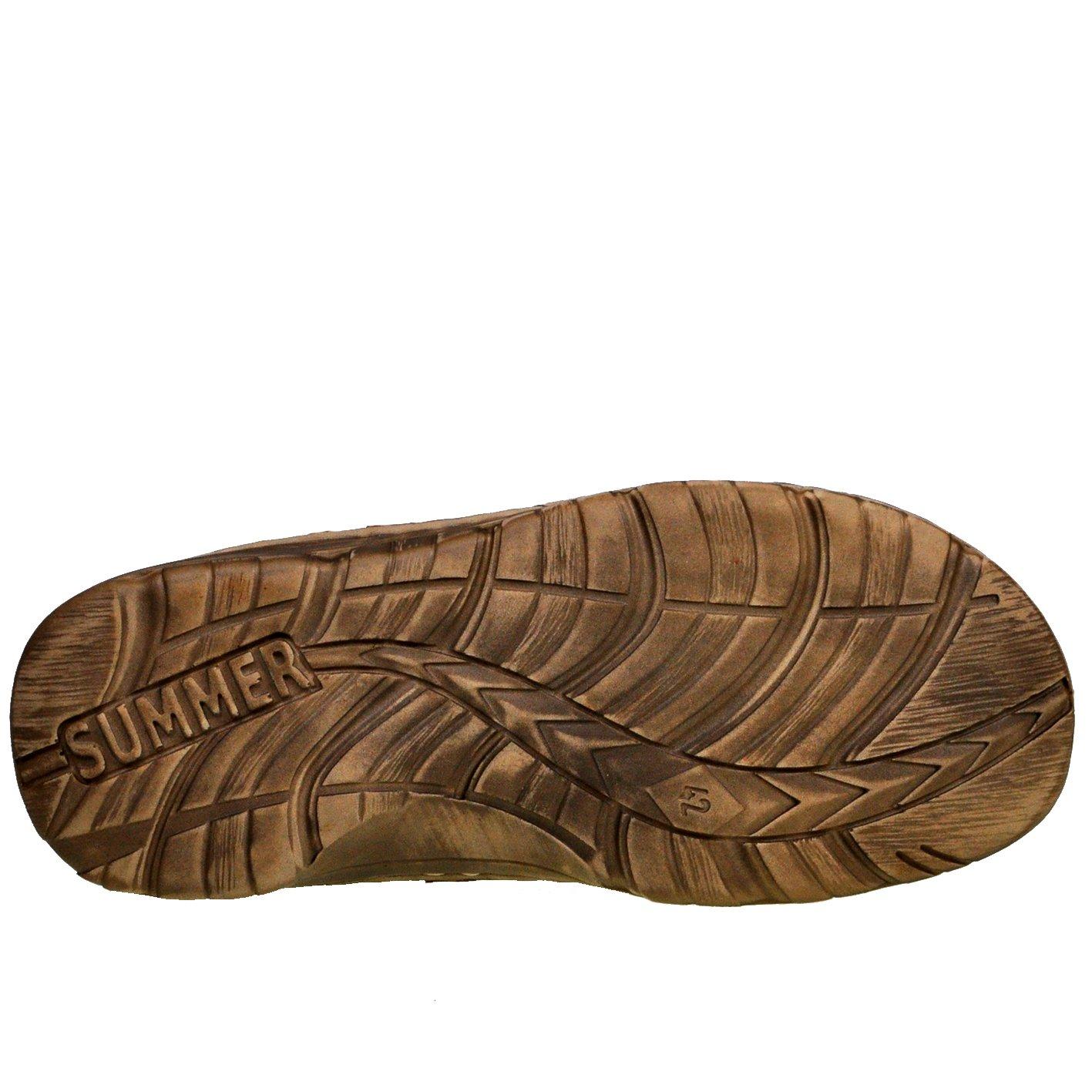 78f129eabd5 Lukpol Genuine Buffalo Leather Mens Sandals Shoes Comfy Orthopedic Footwear  Model-868 larger image