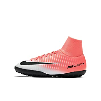 Nike JR. mercurialx Victory VI CR7 TF Zapatillas de Fútbol Infantiles, 601 RACER PINK/BLACK-WHITE: Amazon.es: Deportes y aire libre