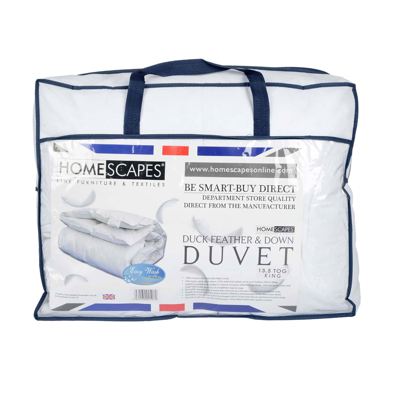 Homescapes warme Premium Winter Bettdecke, 230 cm x 220 cm, Steppdecke, Wärmeklasse 5 - Entenfedern und Daunen