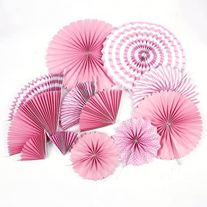 Amazon Zooyoo Hanging Tissue Paper Fans Fiesta For Party