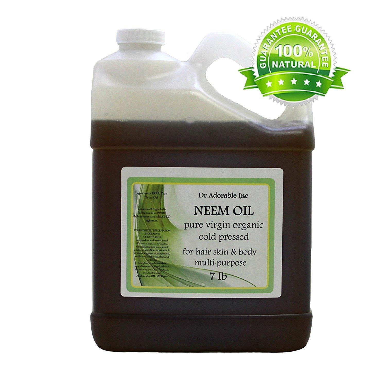 Pure Organic Neem Oil 7 Lb/One Gallon Virgin Cold PRessed
