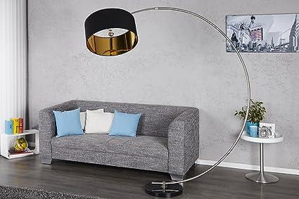 Bogenlampe Mit Dimmer ~ Design bogenlampe python in schwarz gold bogenleuchte mit dimmer