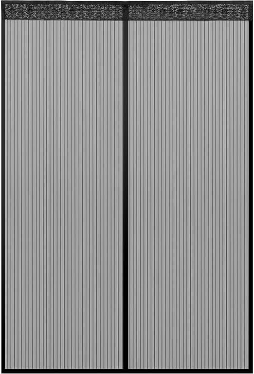 Klebmontage ohne Bohren Zalava Fliegengitter Balkont/ür Fliegengitter T/ür insektenschutz t/ür f/ür T/ür Balkont/ür Wohnzimmer Terrassent/ür 100x210 cm//110x220 cm //120x240cm//160x230cm 90x210 cm, Schwarz