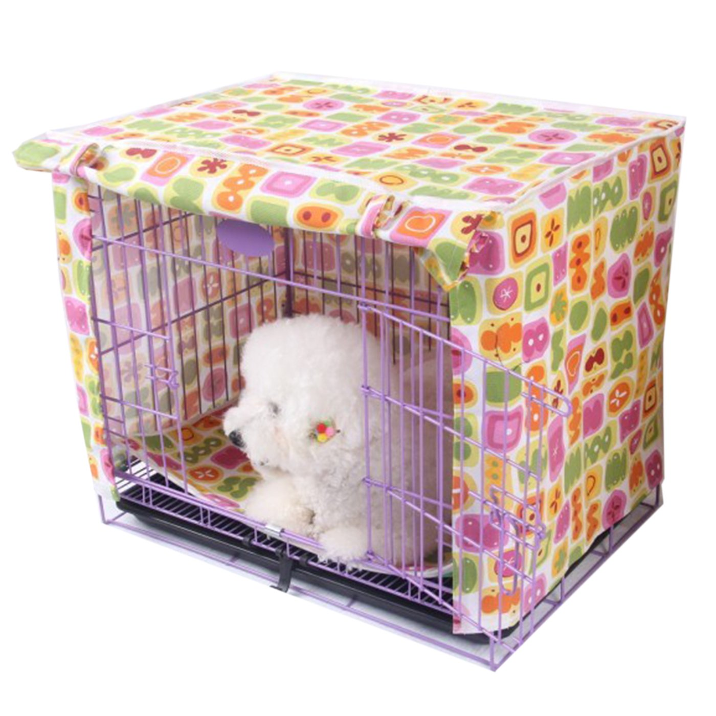Alfie Pet by Petoga Couture - Chaney Pet Polyester Crate Cover - Size: Small