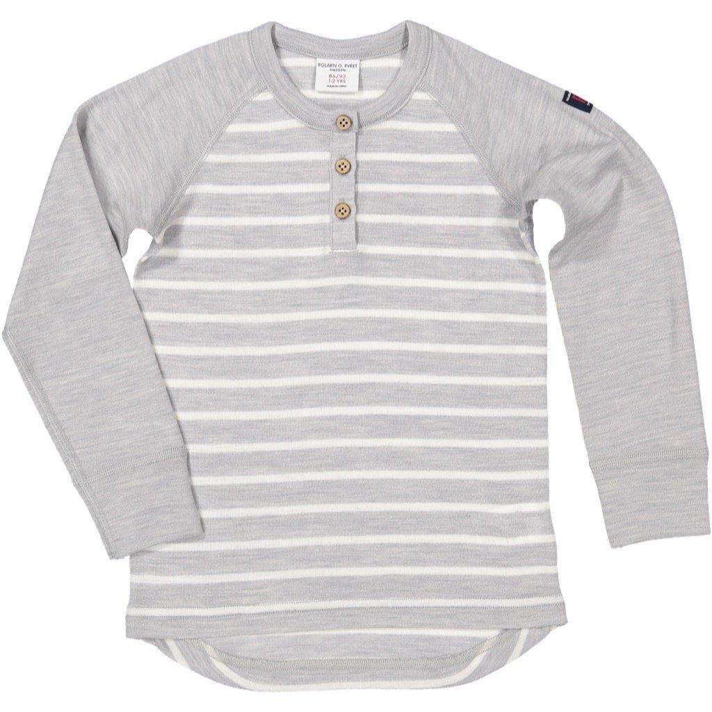 Polarn O. Pyret Winter Stripe Merino Top (Baby)