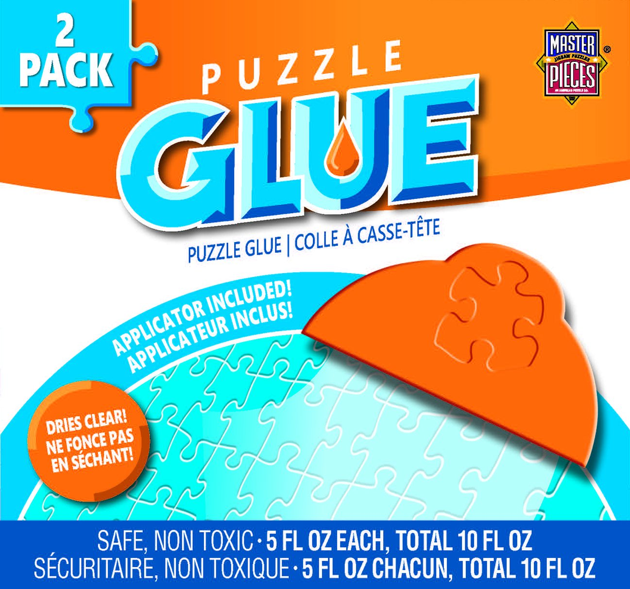 MasterPieces Accessories, Jigsaw Puzzle Glue Bottle & Wide Plastic Spreader, 5 Ounces each, 2 Pack by MasterPieces