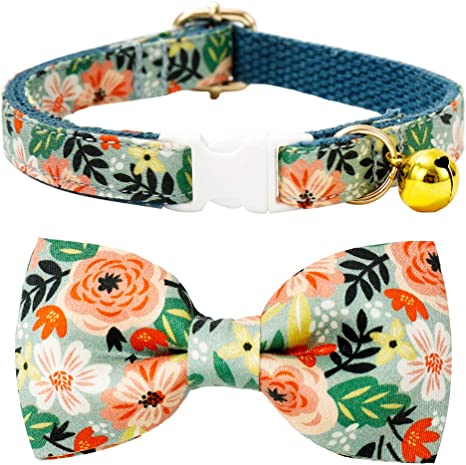 Collar Add-on Detachable Collar Bow Collar Decoration Tiny Dog Collar Bow Removable Pet Bow Cat Bowtie Floral Dog Bow Tie