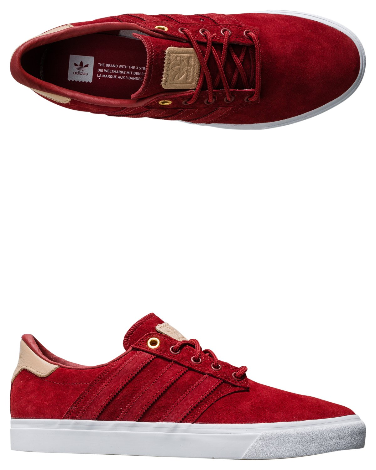 adidas Originals Men\'s Seeley Premiere Classified Fashion Sneaker Mystery Red