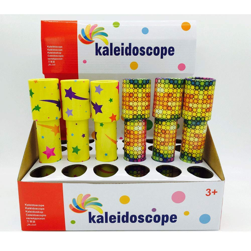 20cm Kaleidoscope,Double Section Cartoon Pattern Kaleidoscope Magic Classic Toy for Children,Pirate Pattern Kaleidoscope,Halloween and Educational Toys Birthday Present for Kids.(Including 24