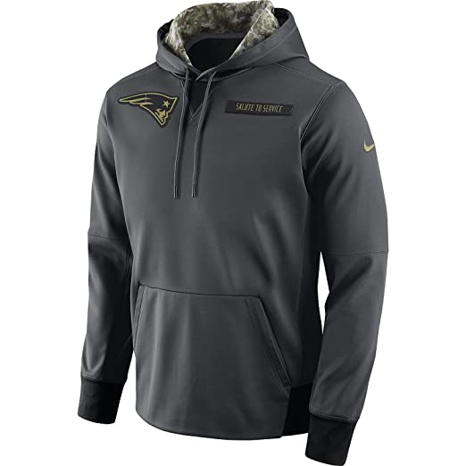 b13bb30d4 Nike Men's New England Patriots Salute to Service Player Fleece Pull Over  at Amazon Men's Clothing store: