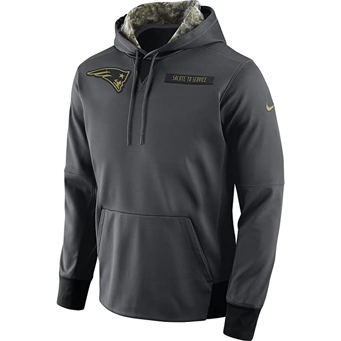 new product a3f30 06df8 Nike Men's New England Patriots Salute to Service Player Fleece Pull Over