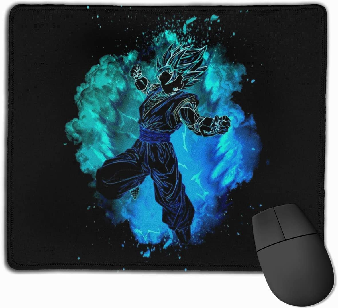 DAIPLY Soul of The Ghost Gengar Poke Computer Laptop Mousepad Stitched Edge Gaming Mouse Pad 11.8x9.8