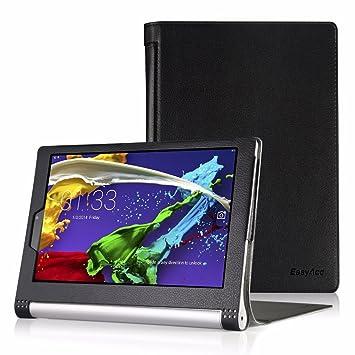 Lenovo Yoga Tablet 2 (10,1 pulgadas FHD IPS) móvil, EasyAcc Case Cover Funda Funda – Folio Piel Sintética Funda con Auto Sleep/Wake (Adecuado para ...