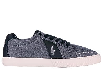 Chaussures baskets sneakers homme en coton hugh Polo Ralph Lauren TkmLW8