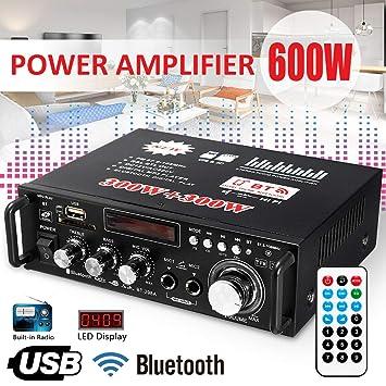 Aoile - Amplificador LCD de 600 W con Audio HiFi, estéreo ...