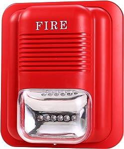 UHPPOTE Wired 12/24VDC Sound and Light Fire Alarm Warning Strobe Siren Horn Sound Alert Safety System Sensor
