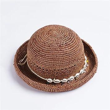 YXINY Viseras Sombreros Temporada De Verano Mujer Sombra Sombrero De Paja  Rafi Aire Libre Sombrero para El Sol Plegable Protección Solar Sombrero De  Playa ... 0a8272c9123