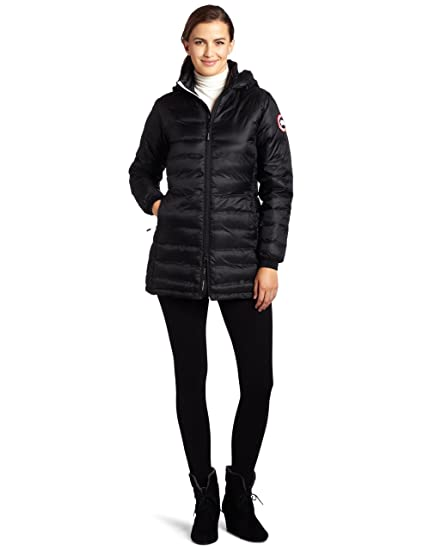 Canada Goose Women's Camp Hooded Jacket,Black,X-Large