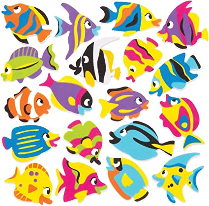 N-19 3 Sticker Packs 1 Pop-Up Fish /& 2 Puffy Alphabet Letters