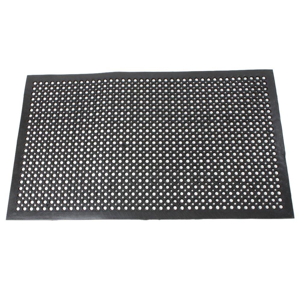Oshion Black Indoor Commercial Industrial Heavy-Duty Anti-Fatigue Floor Mat 36'' x 60''