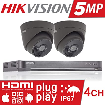5 MP Hikvision CCTV sistema de seguridad Full HD 4 K Turbo DVR 4 ch 4