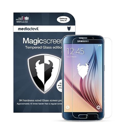 706 opinioni per Galaxy S6 Pellicola Protettiva in Vetro Temperato, MediaDevil Magicscreen