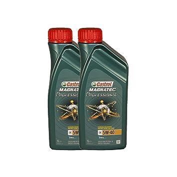 Aceite Motor Castrol Magnatec Professional OE Aceite de 5W-40, pack 2 litros: Amazon.es: Coche y moto