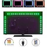 Striscia LED TV, COSKIP RGB 5050 Impermeabile con Cavo usb per TV e Monitor PC,Schermo LCD, Laptop,Desktop PC,Esterni,Ridurre l' Affaticamento Degli occhi e Aumentare Immagine Chiarezza
