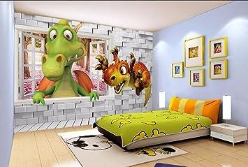 Yosot Benutzerdefinierte Tapete Kinderzimmer Kulisse Wall D Dinosaurier Stereo Dinosaurier Cartoon Baby Zimmer Hintergrund D Tapete