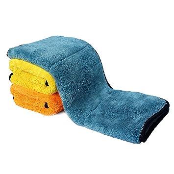 cjixnji Toalla de Limpieza para Coche, Microfibra, Doble Cara, Ultra Gruesa, de