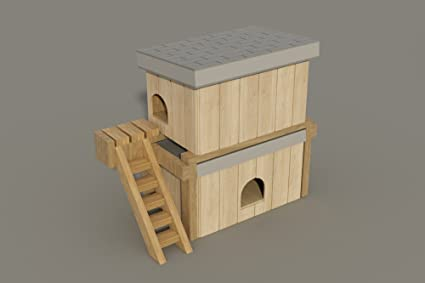 Amazon.com : Plans to build a Medium sized 2 story Dog House (DIY ...