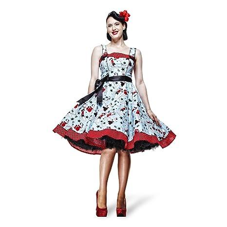 596408ec7409 Vestito donna - Dixie - Rockabilly - Anni  50 - Vestito Rock n roll ...