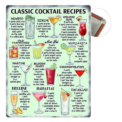 Grand Teint Vintage Plaque Métallique 20x30cm Poster En Métal Mural Plaque Décorative Pour Cafe Bar Restaurant Pub Série Bière Cocktail Menu