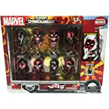 Exclusive Deadpool Metallic Chrome Figure Set of 8 Chimichanga Truck Package