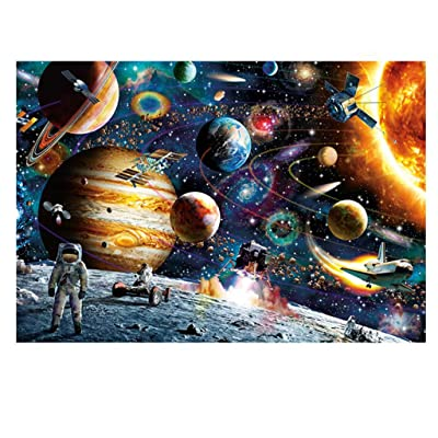 LODDD Multicolor Fantasy Landscape Jigsaw Puzzles Adults Childs Puzzles 234 Piece Large Puzzle Astronaut Planet Difficult Puzzle Toys: Everything Else