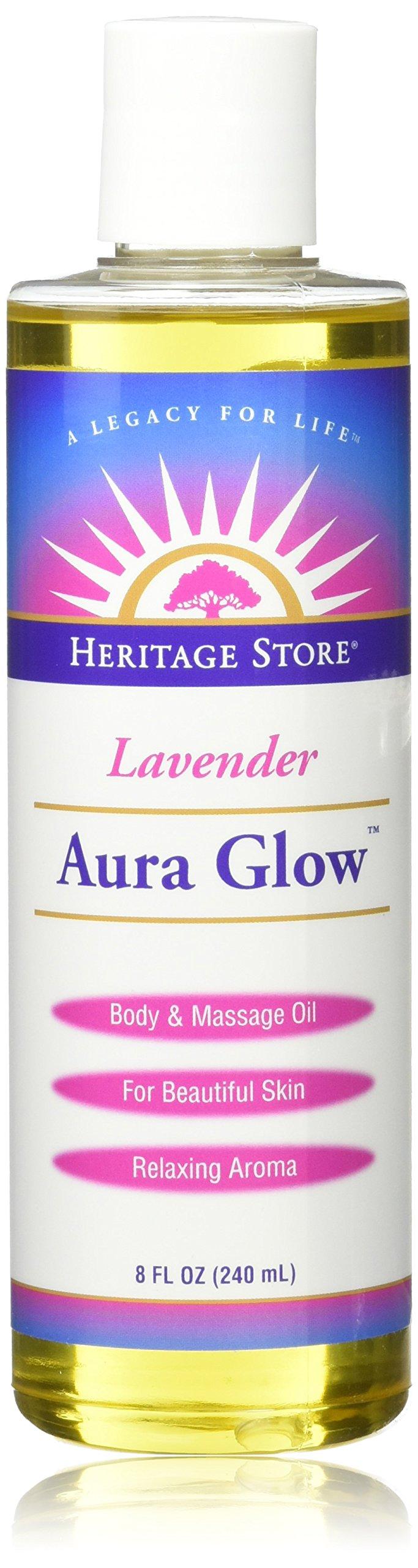Heritage Products Coconut Aura Glow, 8 Oz Badger - Lip Balm Stick Highland Mint - 0.15 oz. (pack of 4)