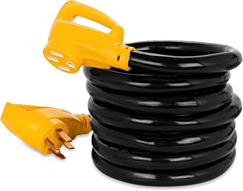 Amazon Com Camco 15 Powergrip Heavy Duty Outdoor 50 Amp Extension Cord For Rv And Auto Allows For Additional Length To Reach Distant Power Outlets Built To Last 55194 Automotive