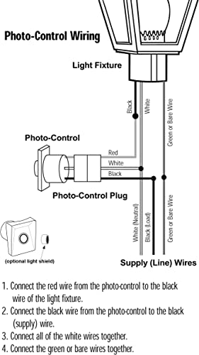[SCHEMATICS_44OR]  Solus SPC-320 120V Automatic Dusk to Dawn Photocell Photo Control Light  Sensor Switch for Hardwire Outdoor Lamp Posts with Ezee Change Plug, Works  with Most Fixtures and Bulbs, UL Listed (Single Pack) - - | Wiring Diagram For Dusk To Dawn Light Control |  | Amazon.com
