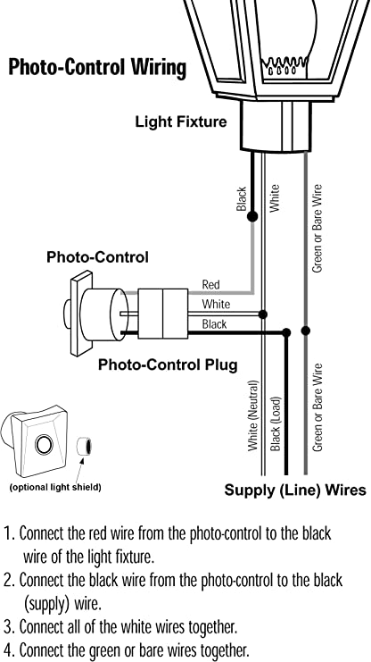 photocell wiring schematic solus spc 320 120v automatic dusk to dawn photocell photo control  120v automatic dusk to dawn photocell