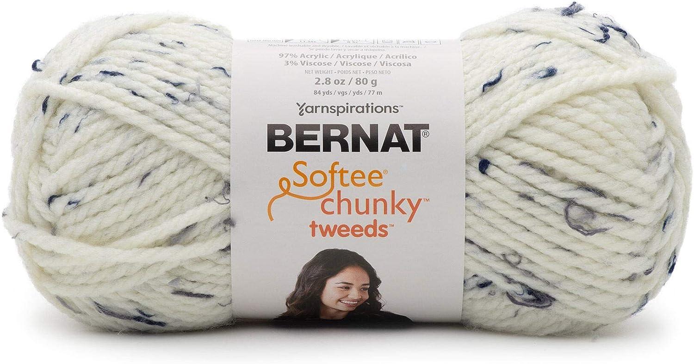 BERNAT 16123939002 Softee Chunky Tweeds BB Yarn Chocolate