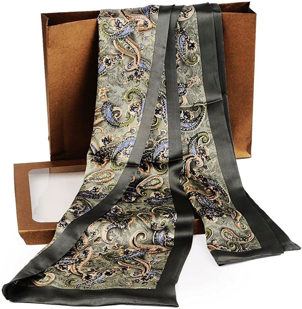 Fashion Mens 100/% Silk Long Scarf//Cravat Scarives Double Layer/_Fits All Seasons