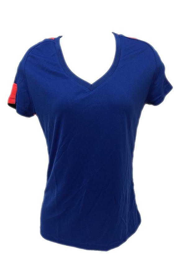 Amazon.com  Women s Blue Plain Soccer V Neck Jersey T Shirt NWOT Size  S 54a9ad69a