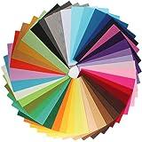 Zedtom Lot de 42 pcs Tissu Feutre en Polyester 20*30cm 42 Couleurs pour Bricolage DIY Couture
