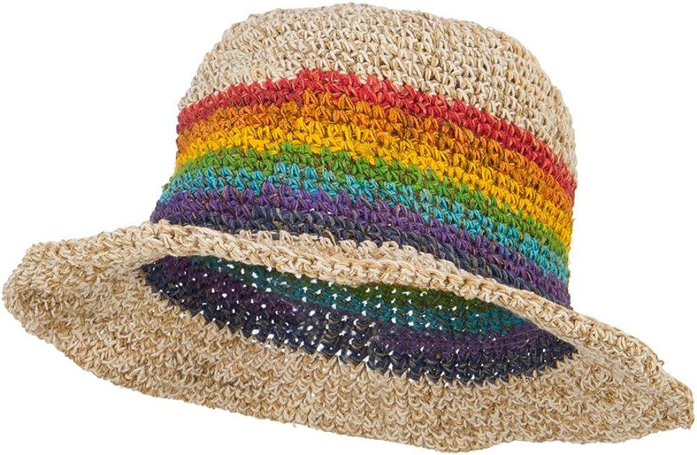 Hemp Hat With Rainbow