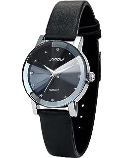 AMPM24 Crystal Women Lady Black Quartz Leather Wrist Quartz Watch Cool SNB023