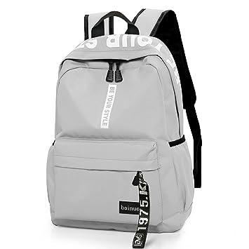 Bainuote Mochila de lona de viaje para mujer, mochila antiaérea ligera impermeable, mochila de mochila de ...
